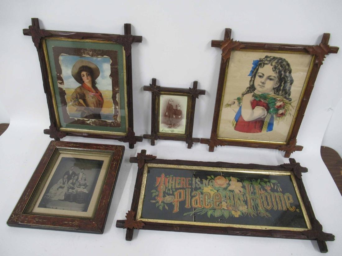 Group of Assorted Tramp art Frames