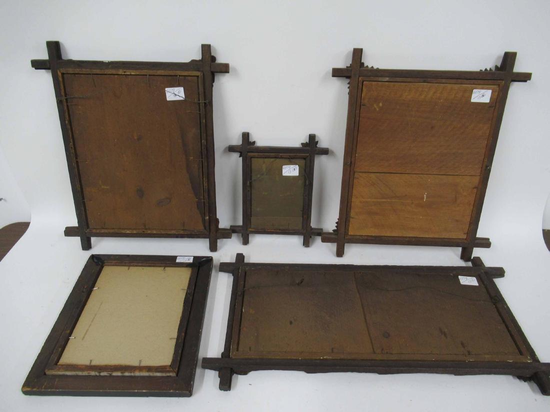 Group of Assorted Tramp art Frames - 8