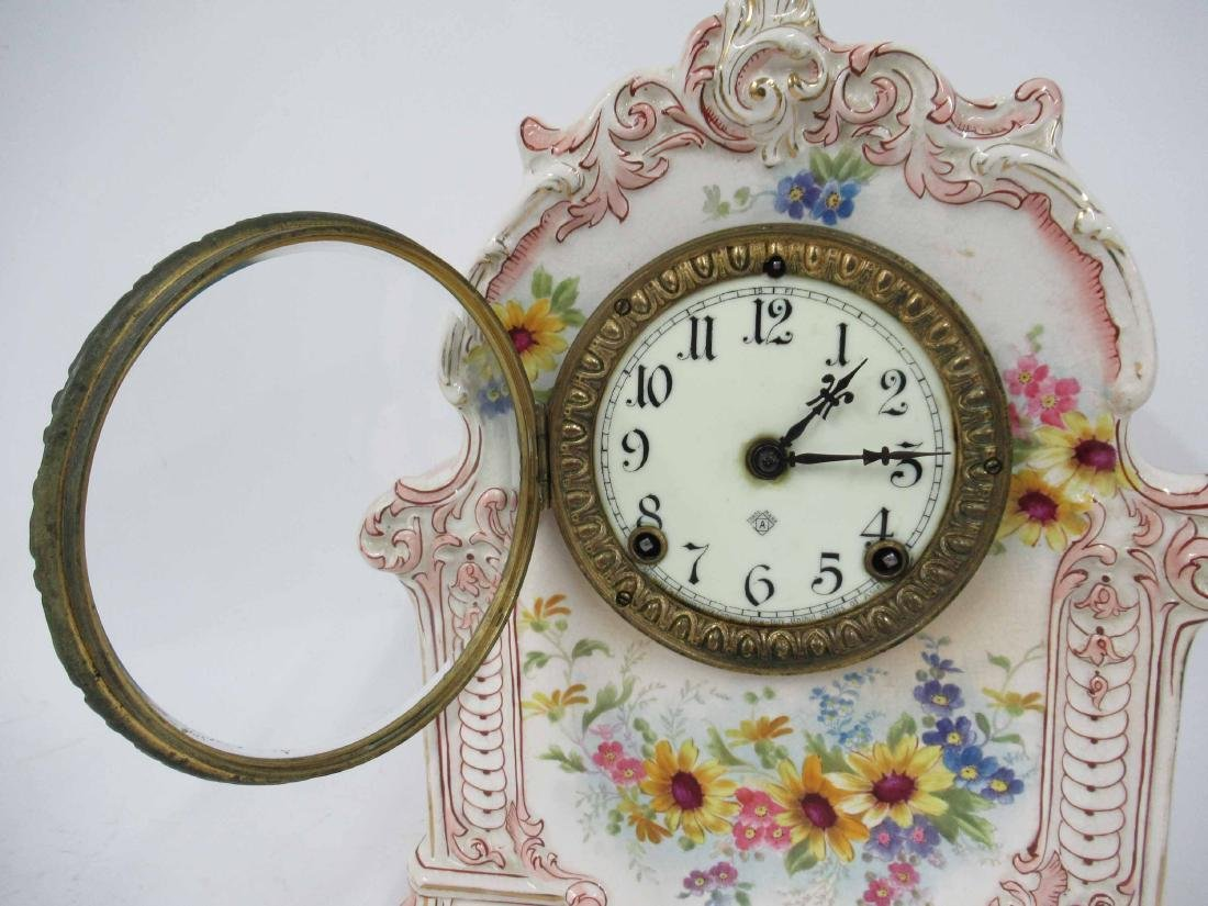 Royal Bonn Porcelain Mantle Clock - 3