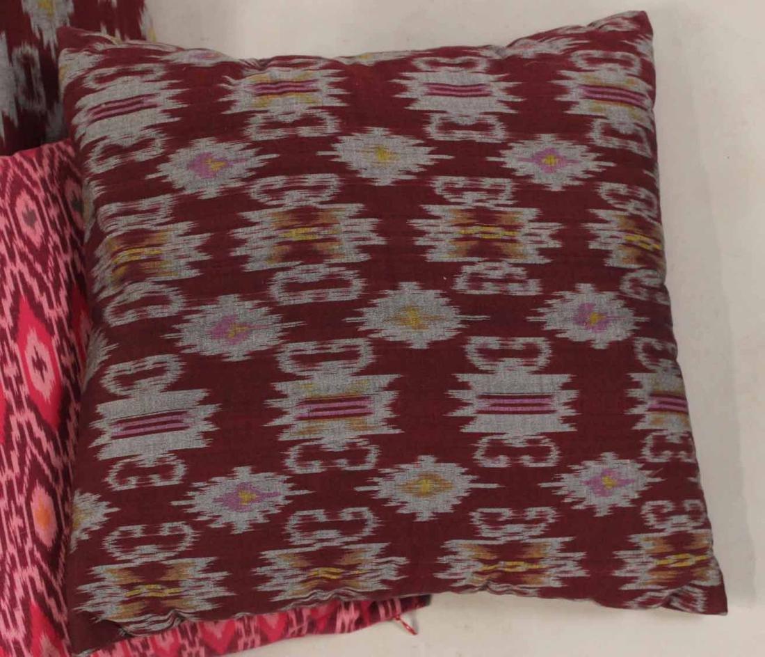 Six Small Fuschia and Purple Pillows - 2