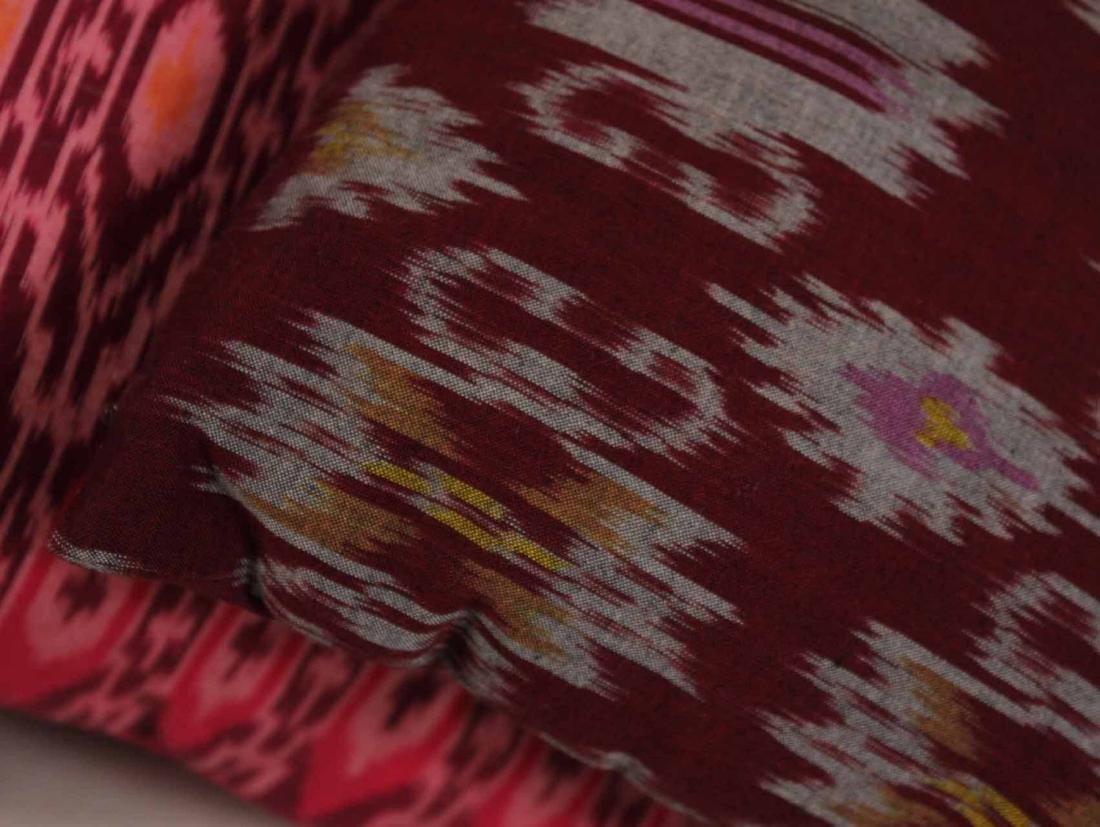 Six Small Fuschia and Purple Pillows - 3