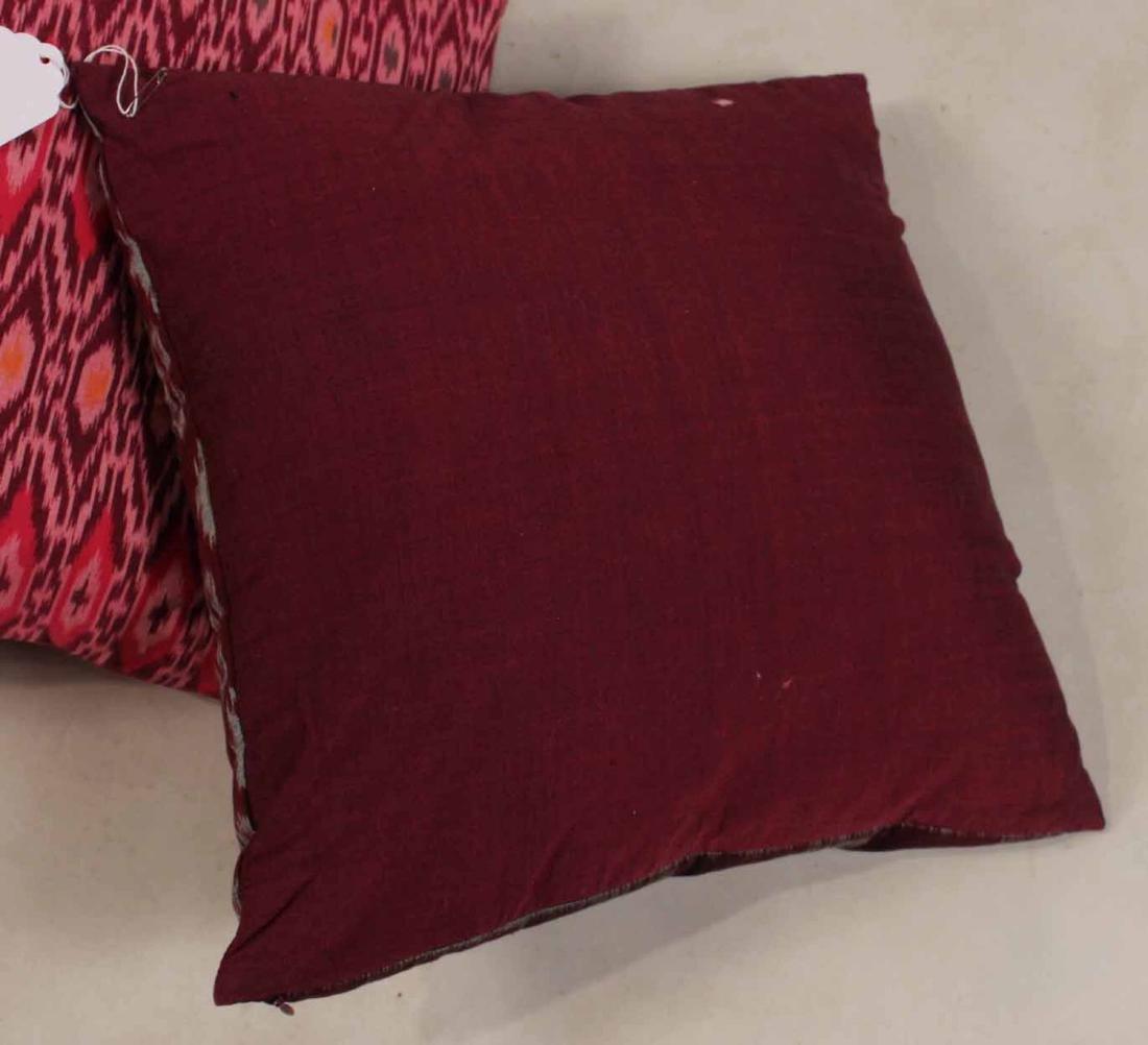 Six Small Fuschia and Purple Pillows - 4
