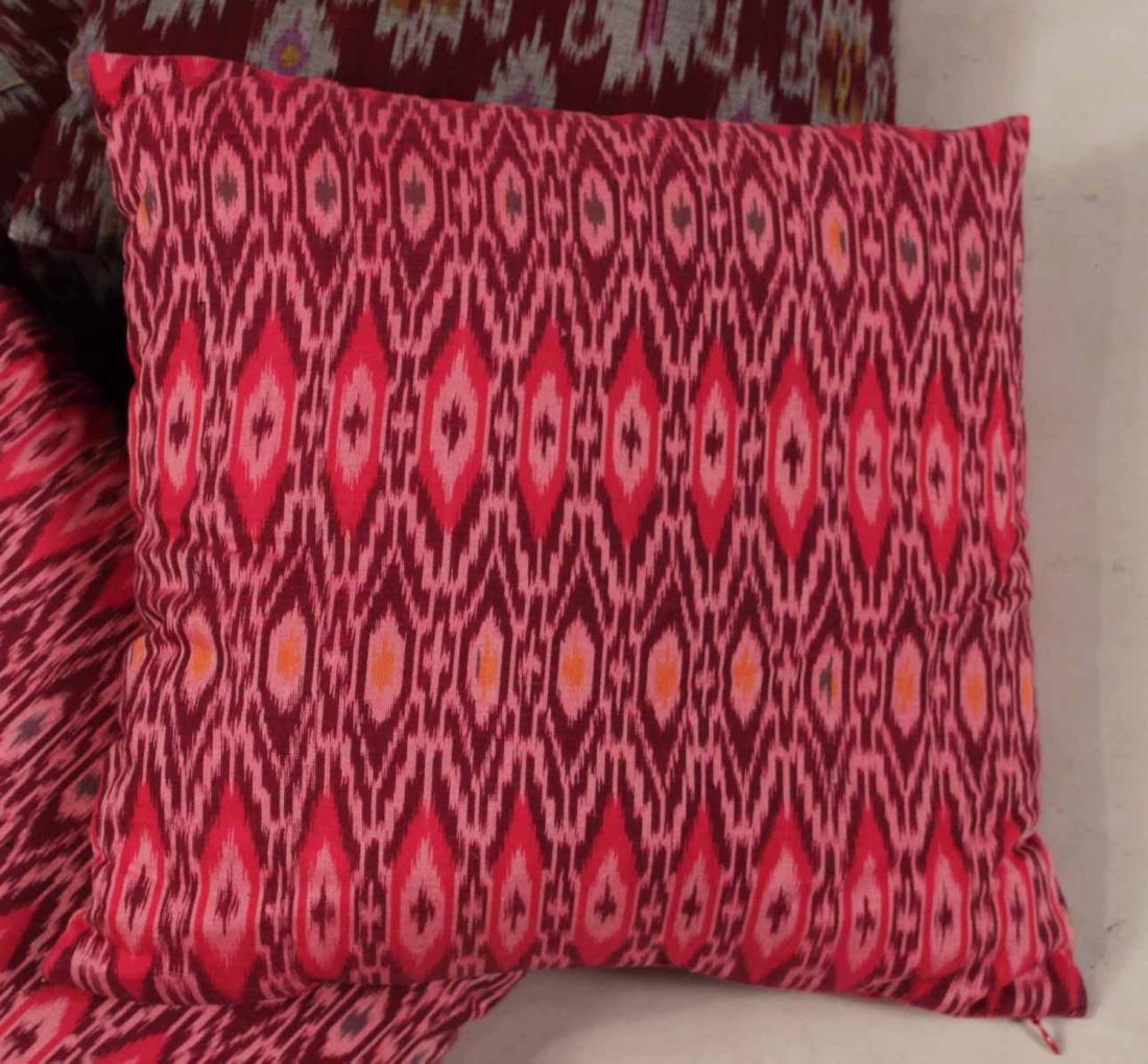 Six Small Fuschia and Purple Pillows - 5
