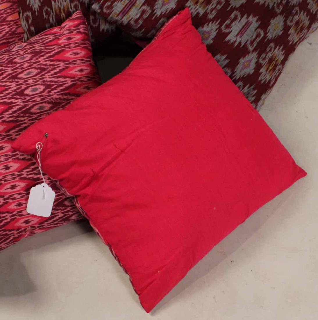 Six Small Fuschia and Purple Pillows - 6