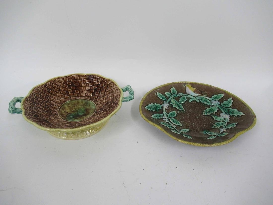 Majolica Bird and Holly Plate