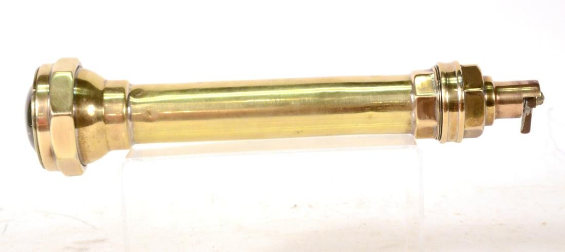 Antique Cast Brass Flashlight