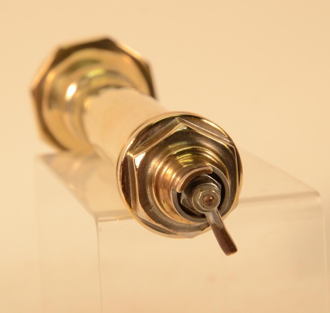 Antique Cast Brass Flashlight - 3