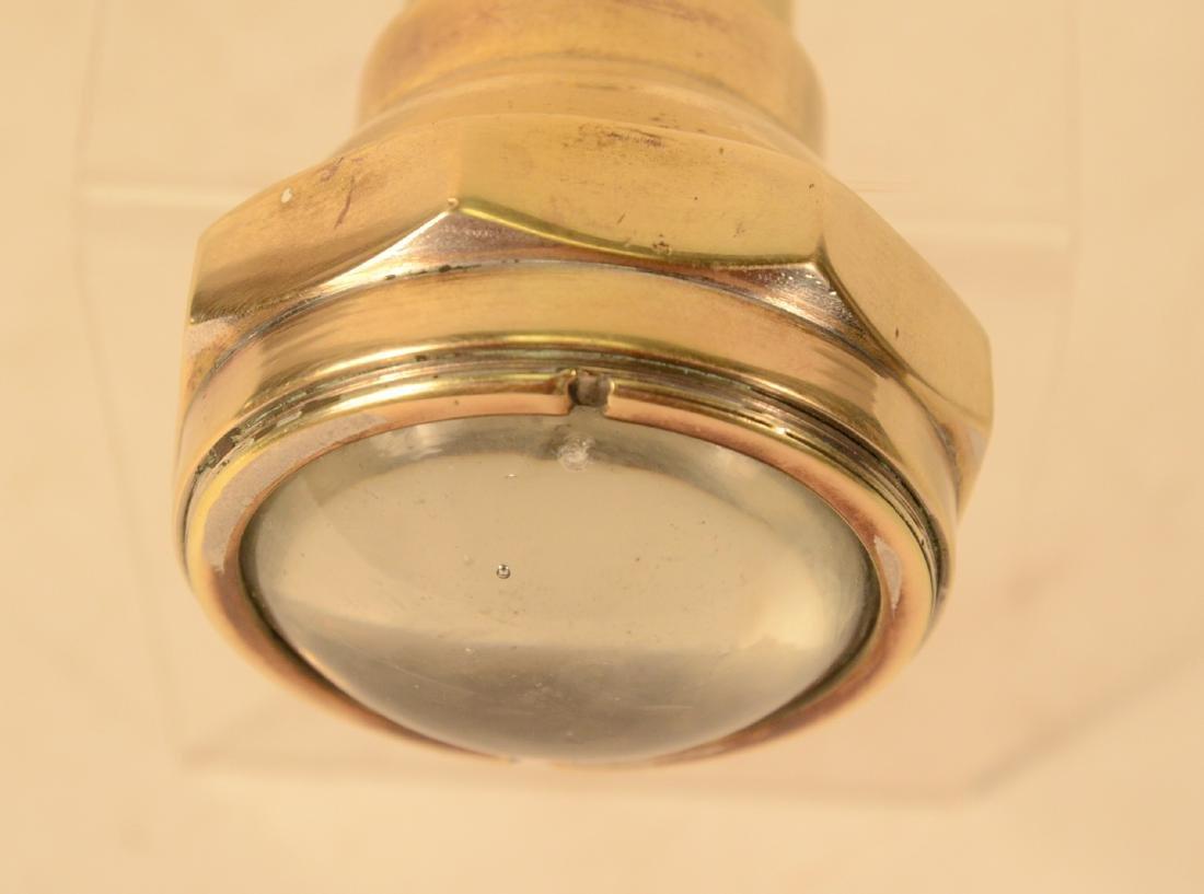 Antique Cast Brass Flashlight - 5
