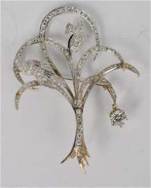 "14K White Gold Diamond ""Tree of Life"" Brooch"