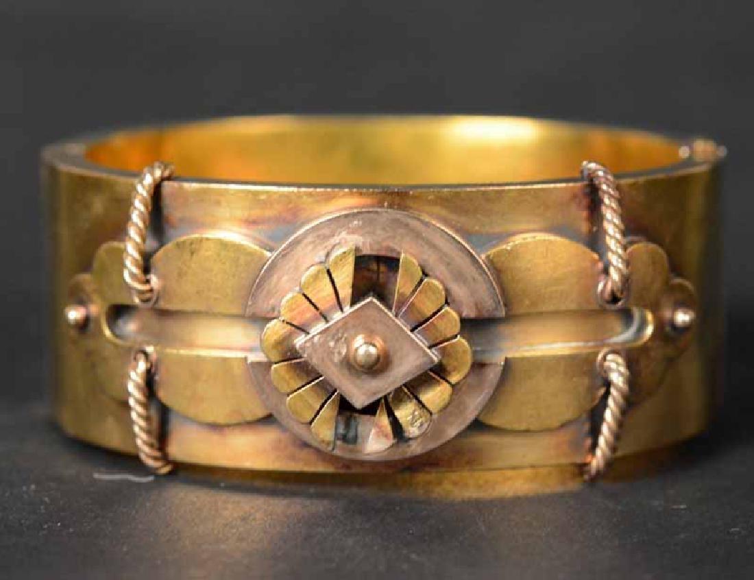 Victorian 15K Yellow Gold Cuff Bracelet