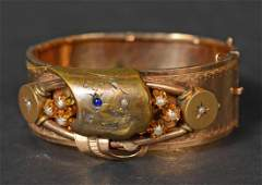 Victorian Yellow Gold Hinged Cuff