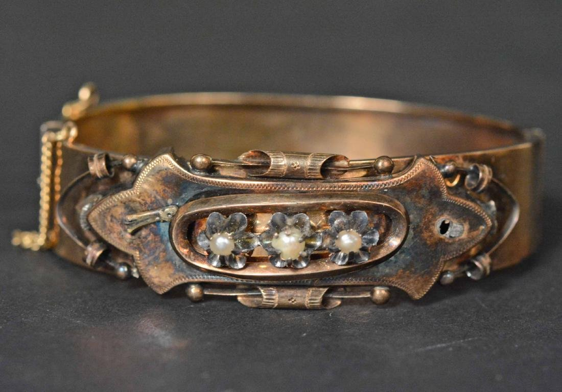 Victorian Unmarked Yellow Gold Cuff