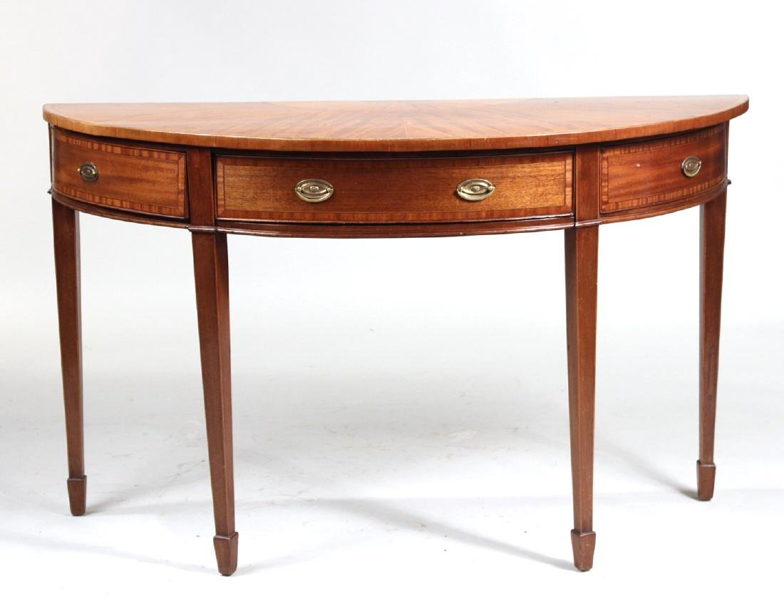 George III Demi-Lune Mahogany Pier Table