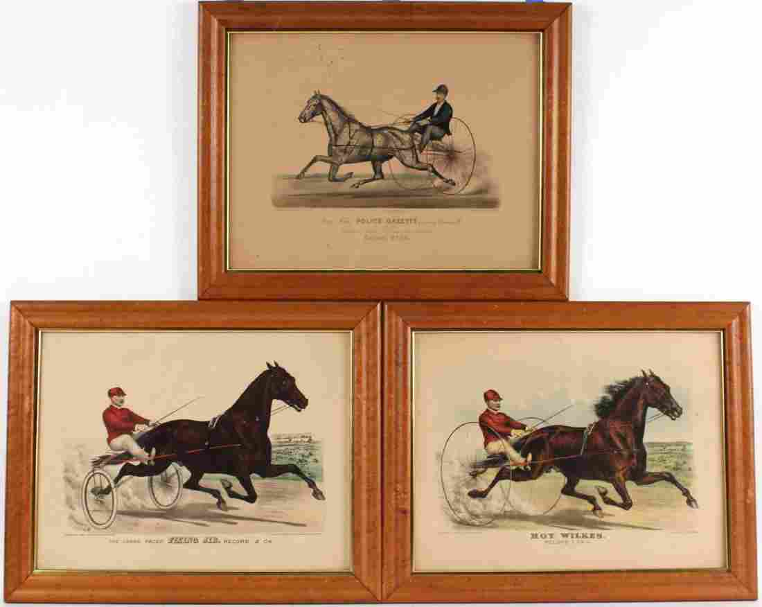 Three Currier & Ives Hand-Colored Lithographs