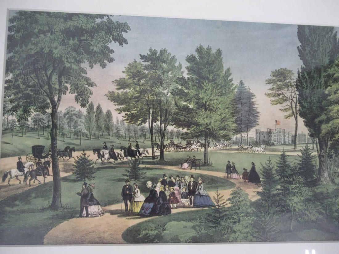 Hand Colored Print of Central Park New York