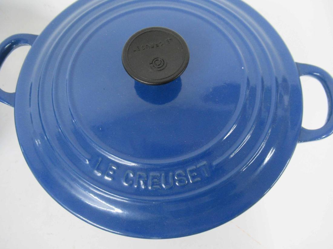 Blue Le Creuset Six Piece Cookware Set - 2