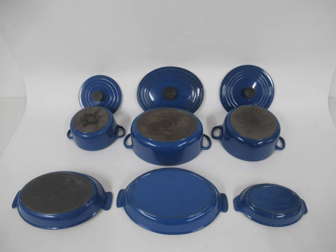 Blue Le Creuset Six Piece Cookware Set - 3