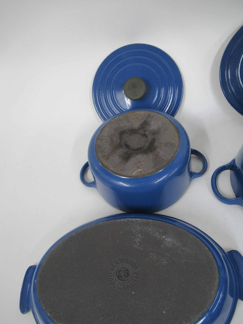 Blue Le Creuset Six Piece Cookware Set - 4