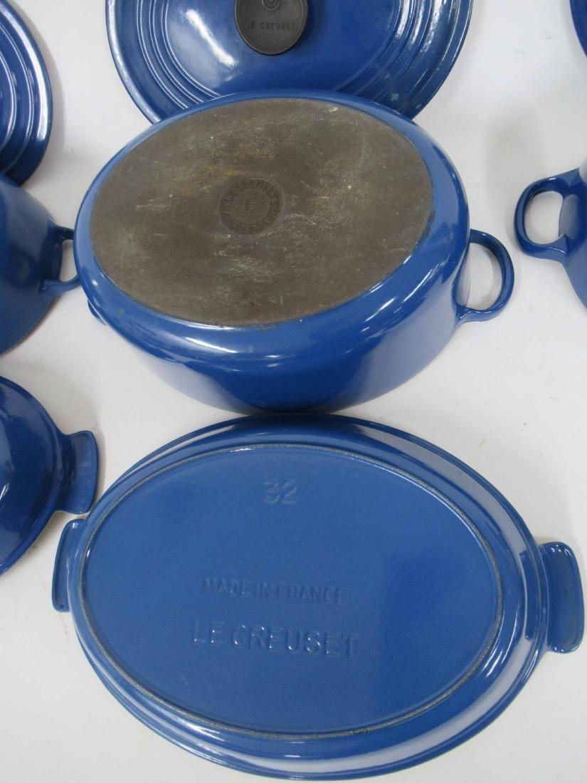 Blue Le Creuset Six Piece Cookware Set - 5
