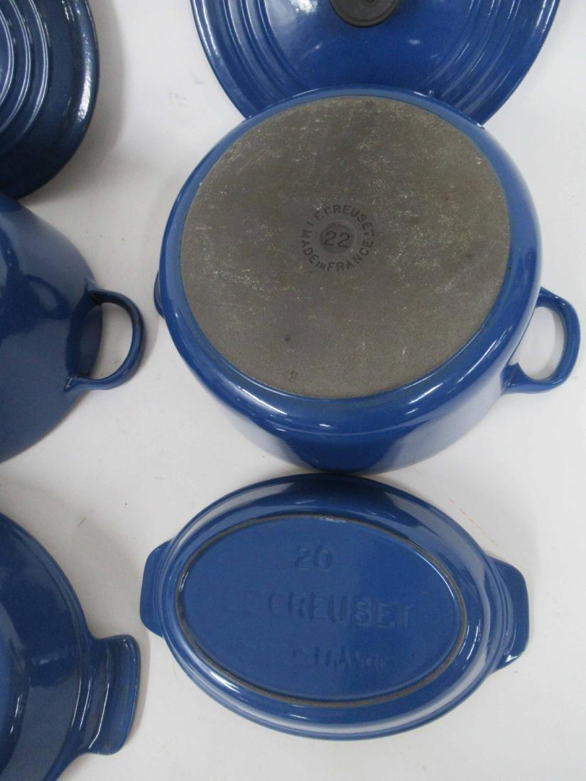 Blue Le Creuset Six Piece Cookware Set - 6