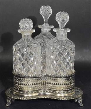 Victorian Silver on Copper Tantalus