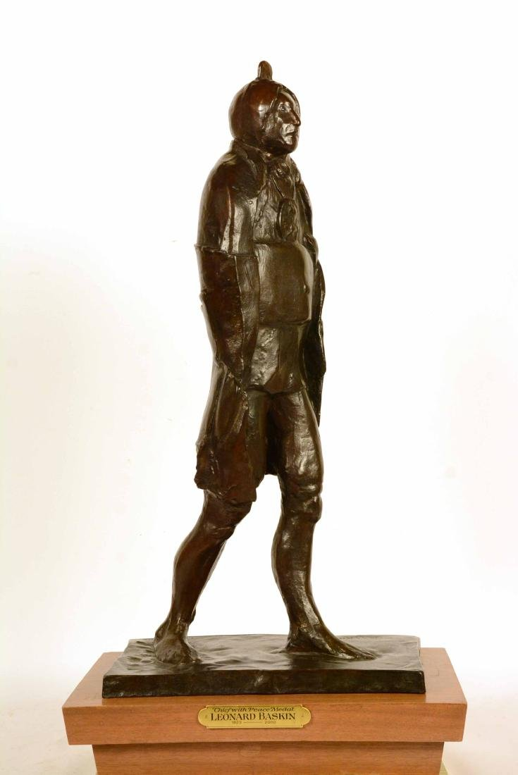 Bronze Statue, Indian Chief, Leonard Baskin