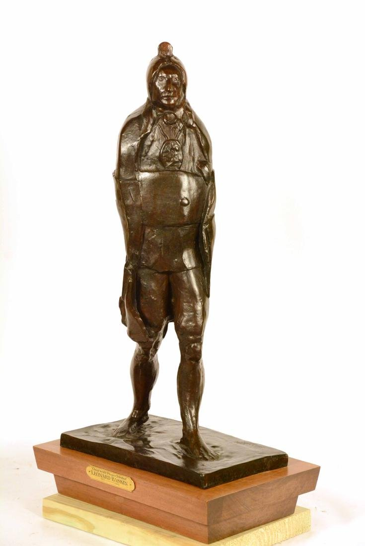 Bronze Statue, Indian Chief, Leonard Baskin - 5