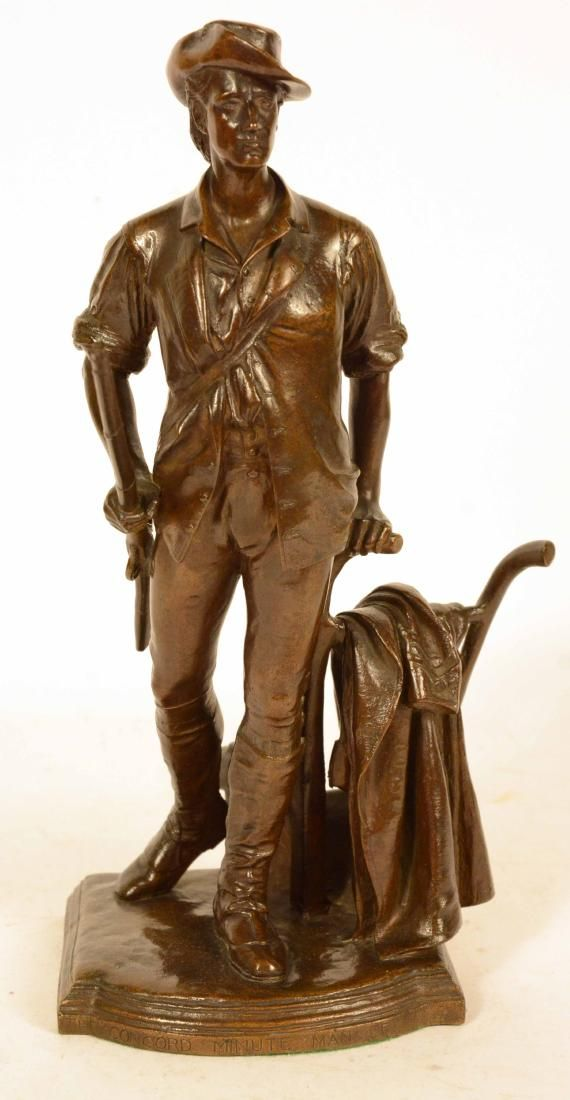 "Bronze Sculpture, ""The Minute Man,"" Daniel Frenc"