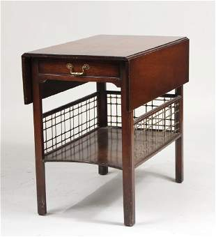 George III Style Mahogany Drop Leaf Table