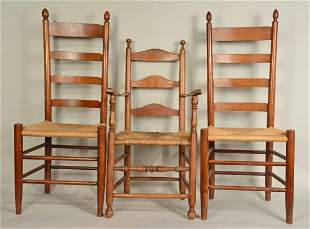 Three Ladderback Chairs