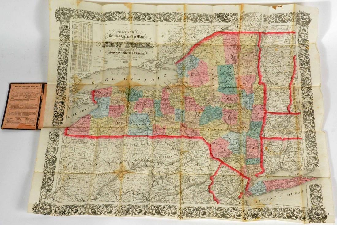 Three Hand Colored Pocket Maps - 7