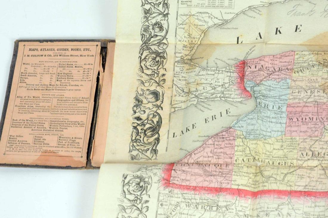 Three Hand Colored Pocket Maps - 9