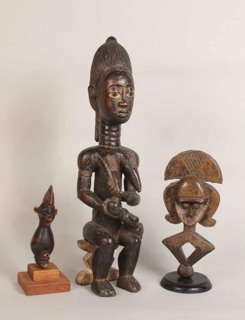 Three Wood African Figures