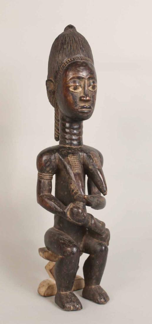 Three Wood African Figures - 4