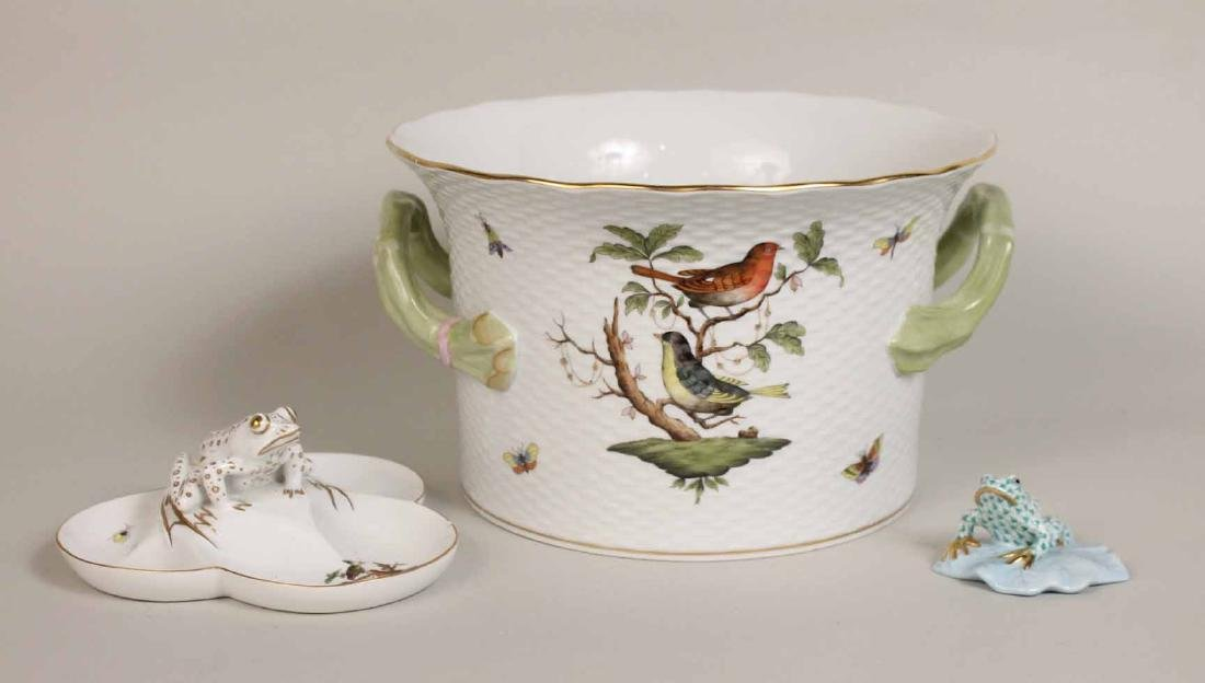 Two Herend Porcelain Rothschild Articles