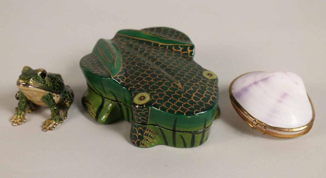 Group of Porcelain and Enamel Boxes - 10