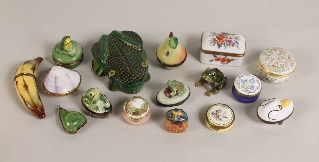 Group of Porcelain and Enamel Boxes