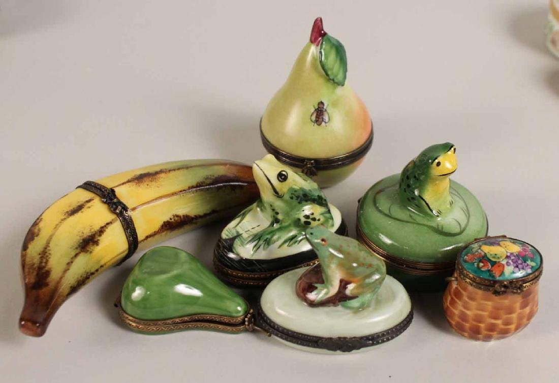 Group of Porcelain and Enamel Boxes - 6