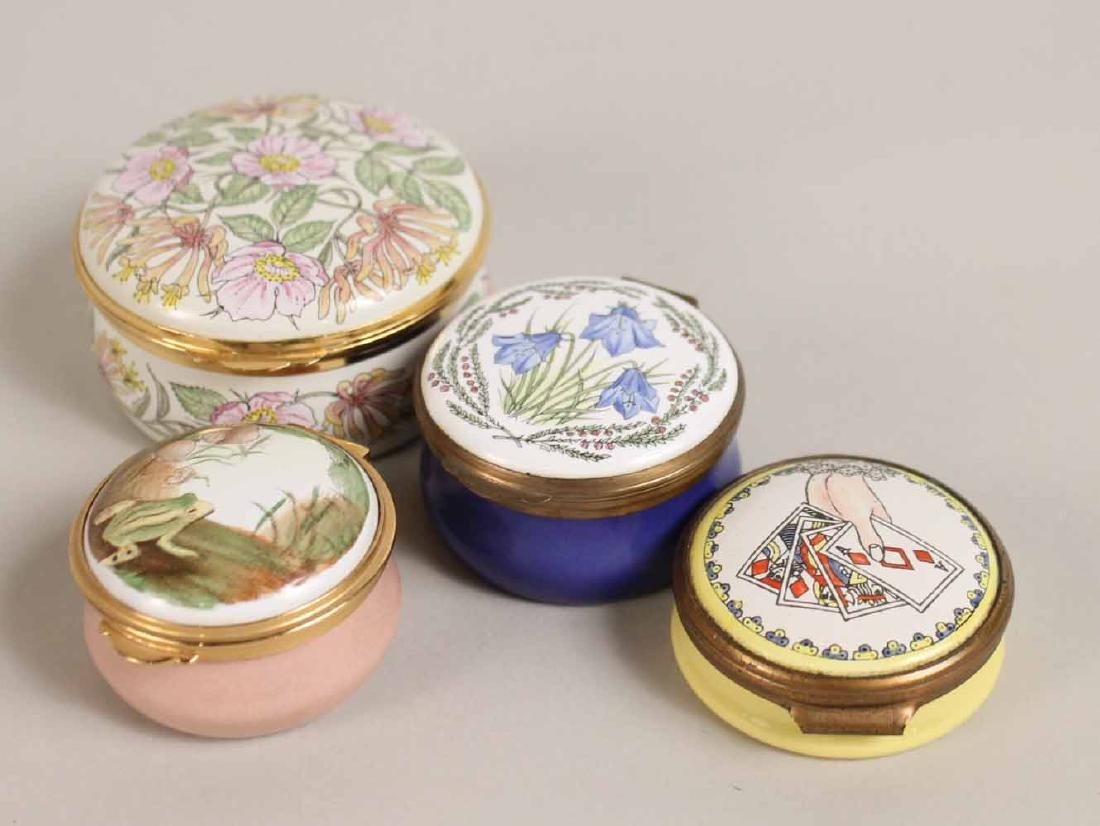 Group of Porcelain and Enamel Boxes - 8