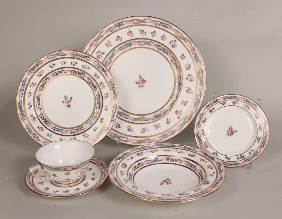 French Handpainted Porcelain Dinner Service