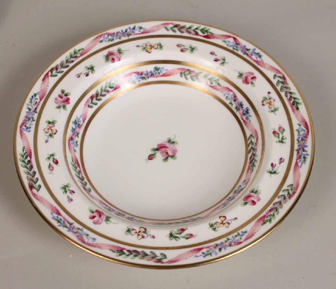 French Handpainted Porcelain Dinner Service - 2