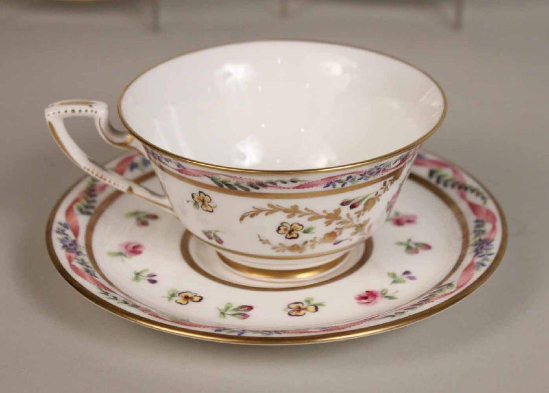 French Handpainted Porcelain Dinner Service - 4