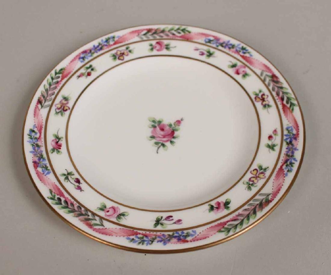 French Handpainted Porcelain Dinner Service - 5