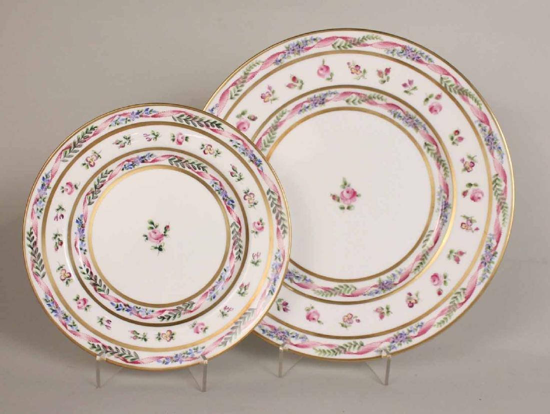 French Handpainted Porcelain Dinner Service - 6
