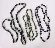 Group of Hardstone Necklaces