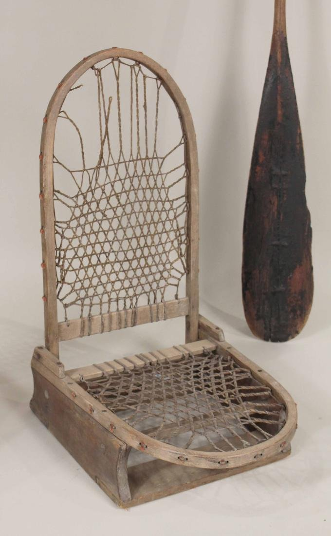 Canoe Seat and Two Oars - 3