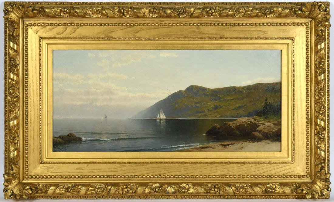 Oil on Canvas, Coastline, Alfred T. Bricher