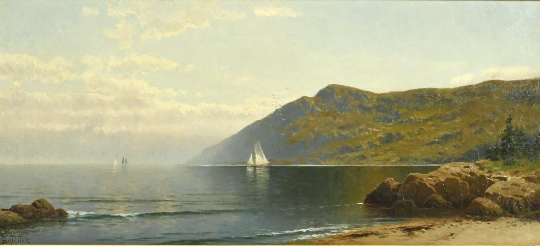 Oil on Canvas, Coastline, Alfred T. Bricher - 2