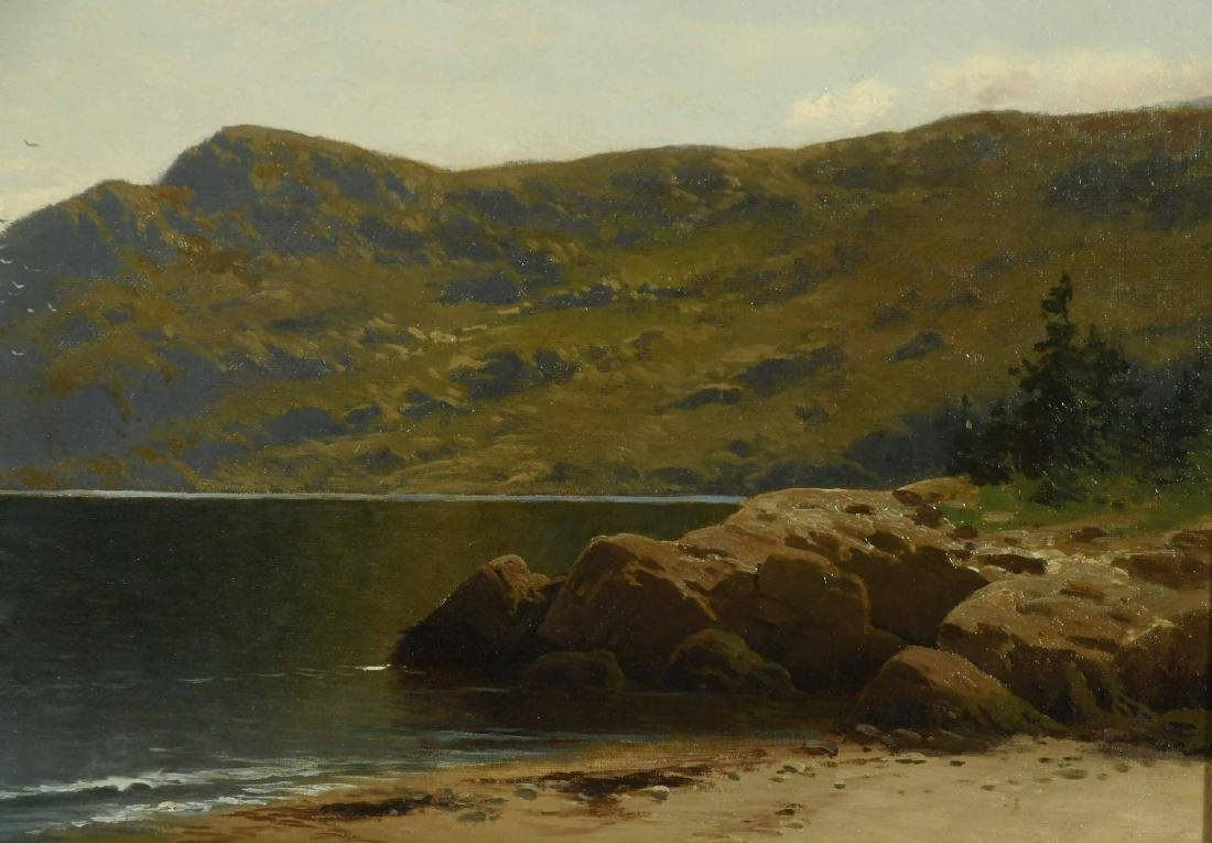 Oil on Canvas, Coastline, Alfred T. Bricher - 6