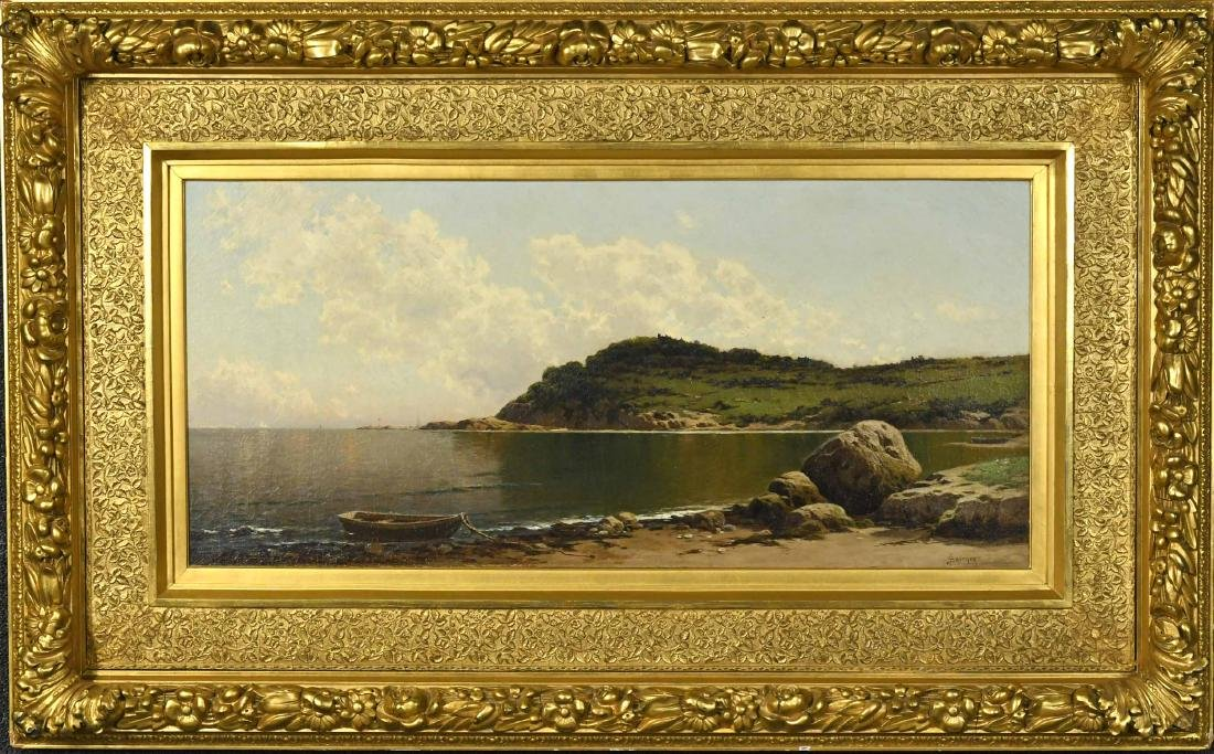 Oil on Canvas, Rocky Coast, Alfred T. Bricher